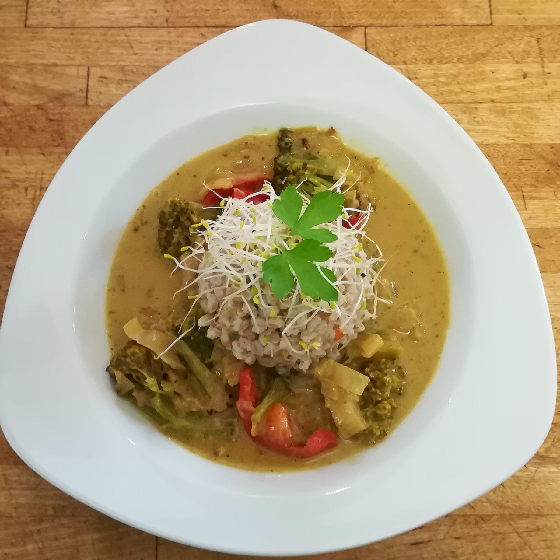 Buntes Gemüse-Curry - Mittagstisch Mittagessen Biodelikat Bad Tölz
