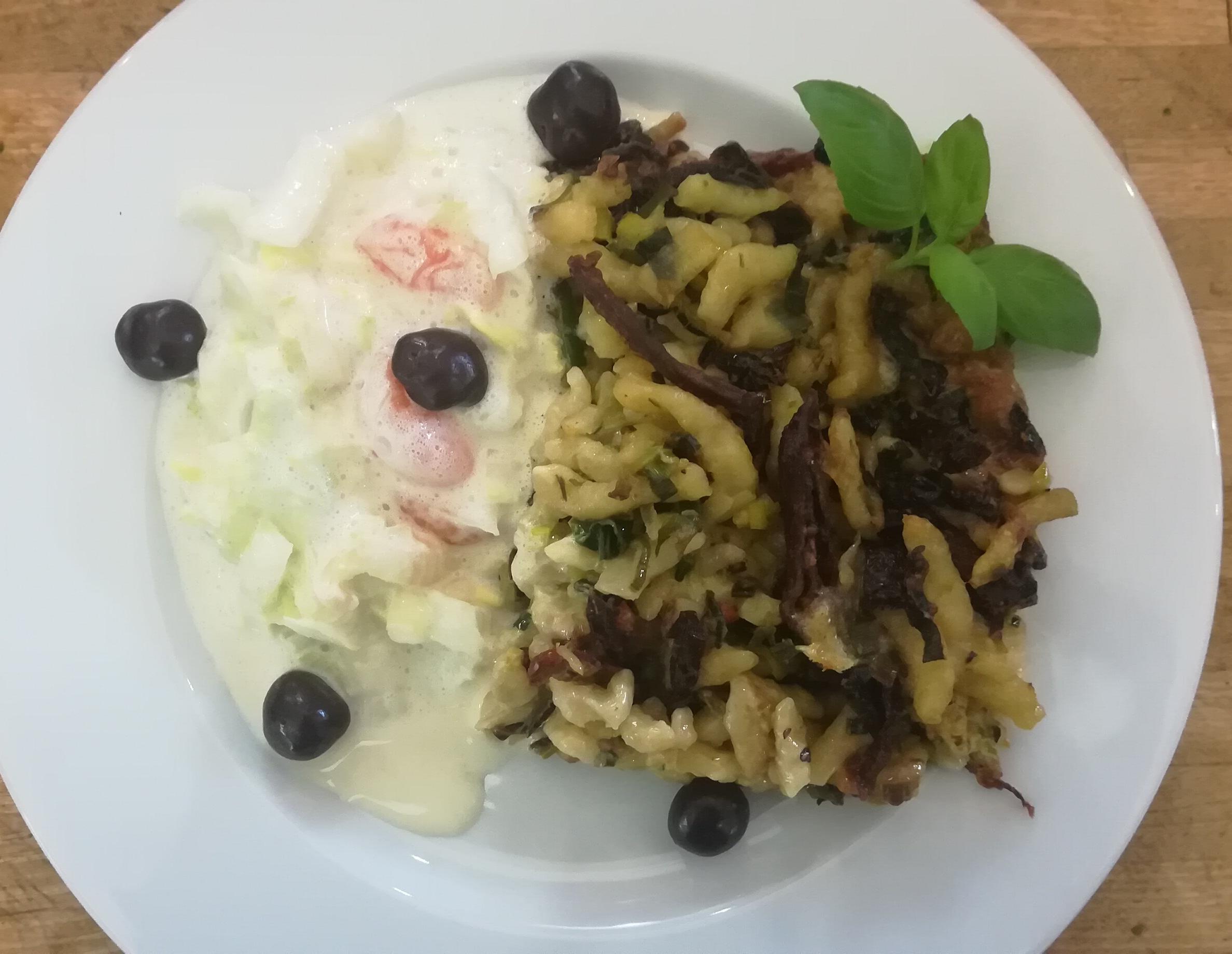 Formaggio Spätzle - Mittagstisch Mittagessen Biodelikat Bad Tölz