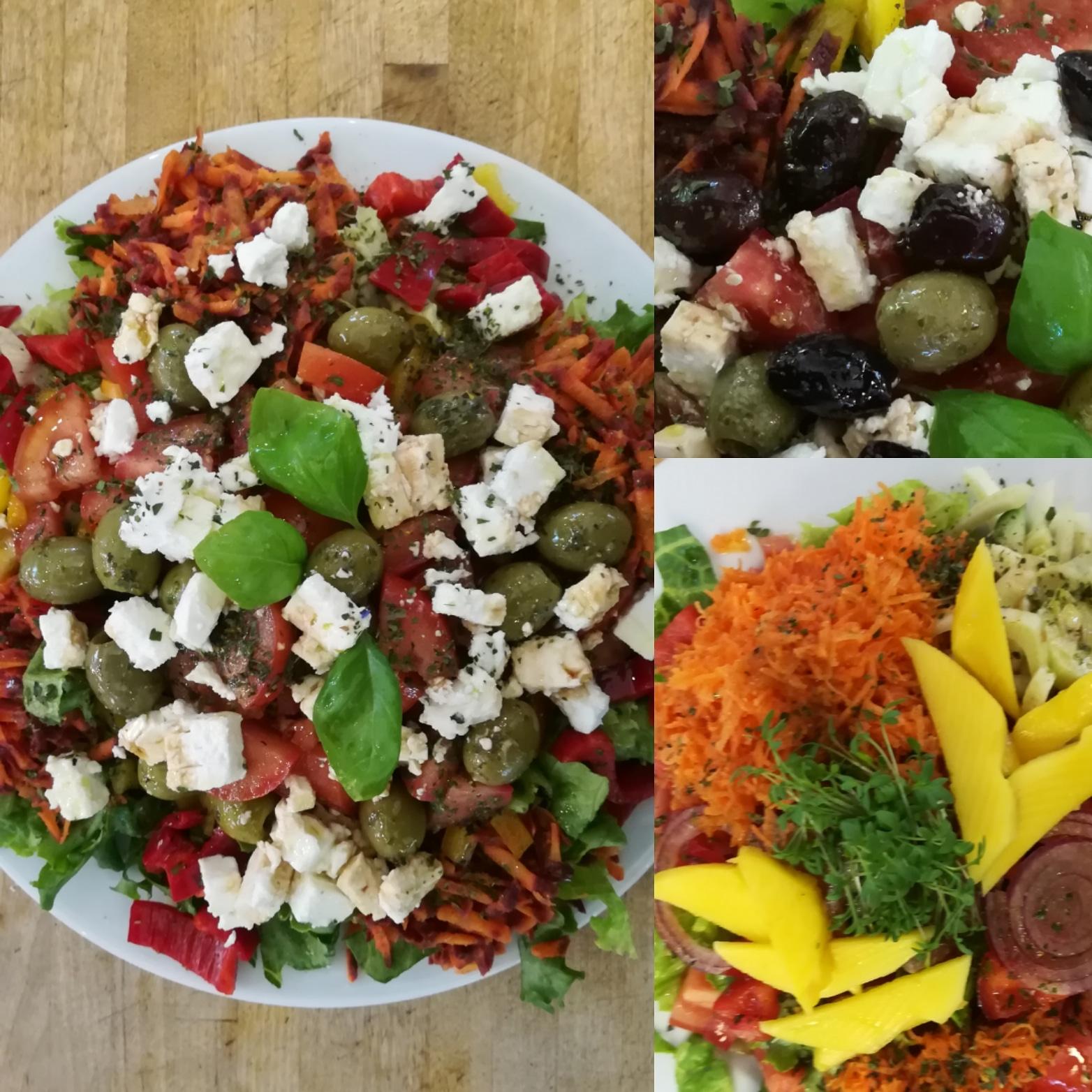 Bunter Bio-Salatteller Salat-Arrangements - Mittagstisch Mittagessen Biodelikat Bad Tölz