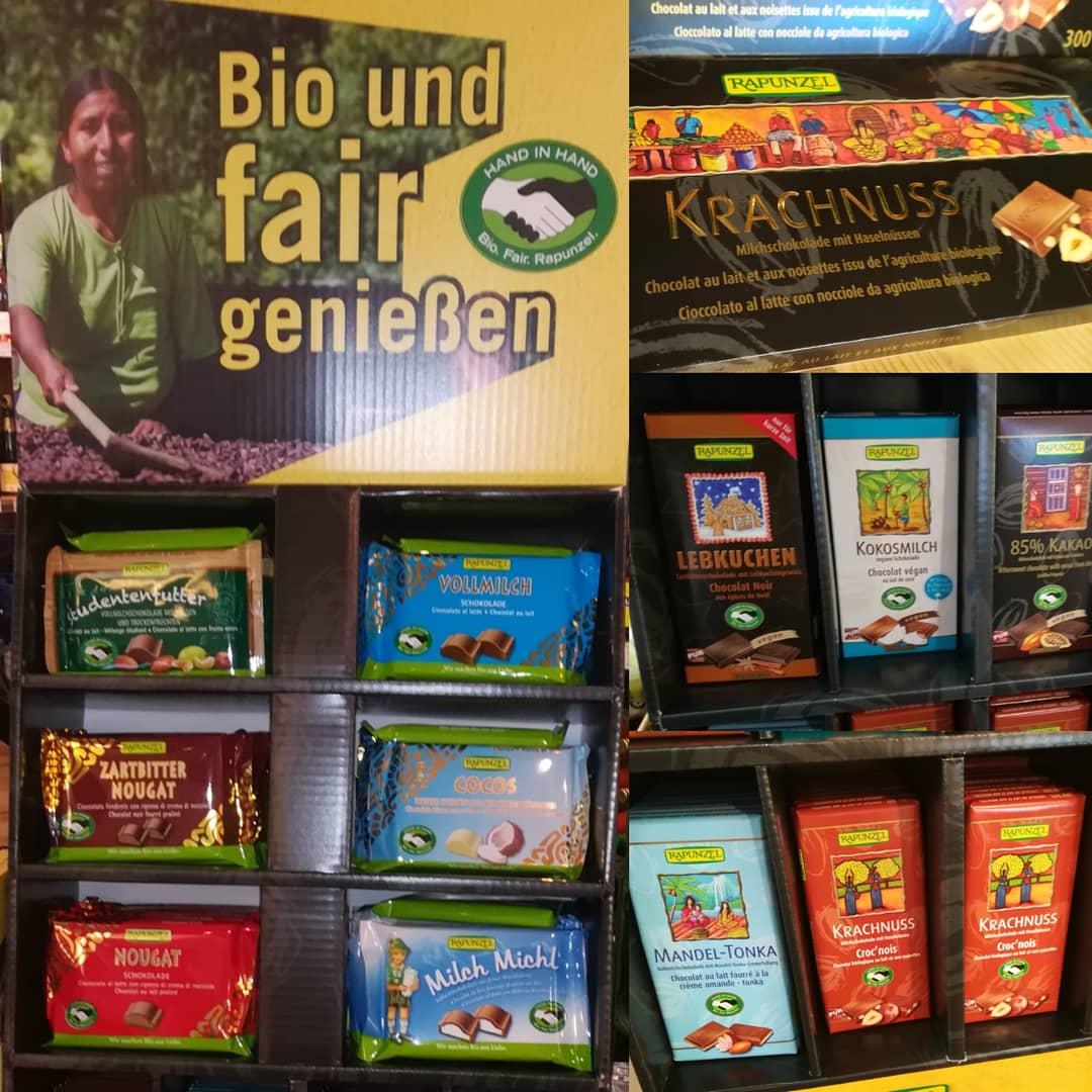 Rapunzel Schweizer Schokolade - Bioprodukt Bio-Lebensmittel Biodelikat Bad Tölz