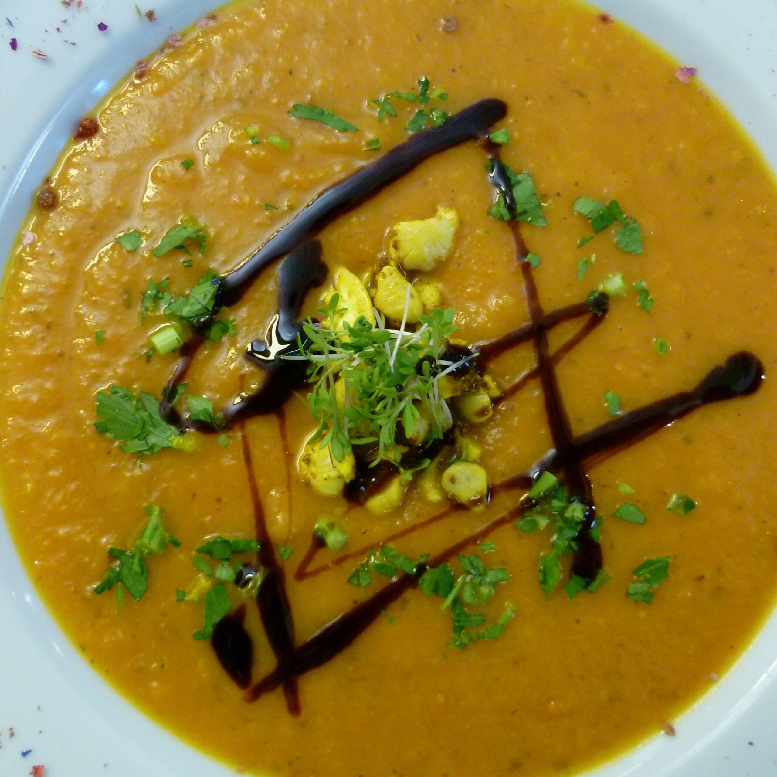 Süßkartoffel-Orangen-Suppe - Mittagstisch Mittagessen Biodelikat Bad Tölz