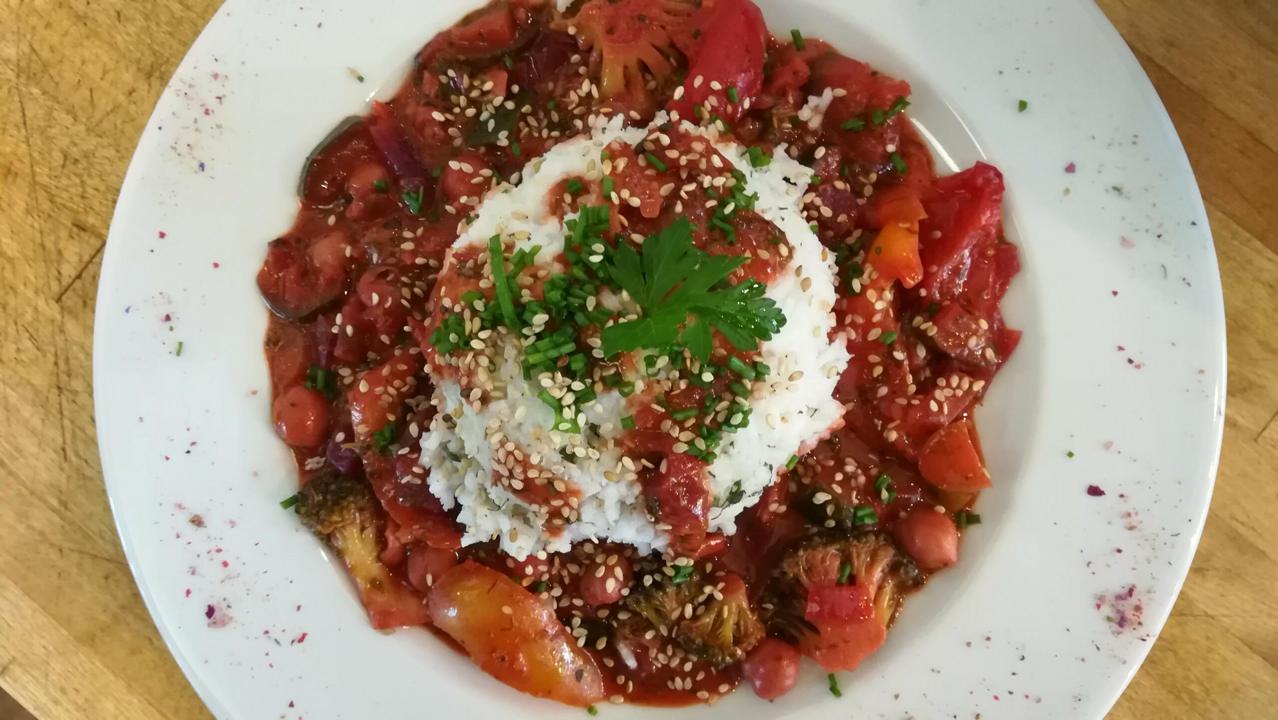 Rotes Curry - Mittagstisch Mittagessen Biodelikat Bad Tölz