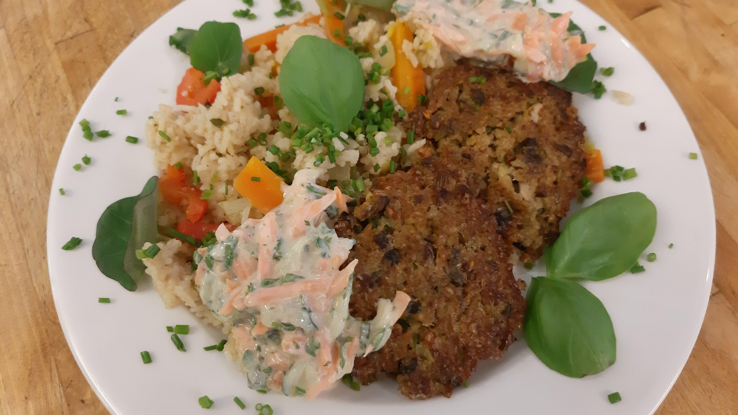 Gemüse-Reispfanne - Mittagstisch Mittagessen Biodelikat Bad Tölz