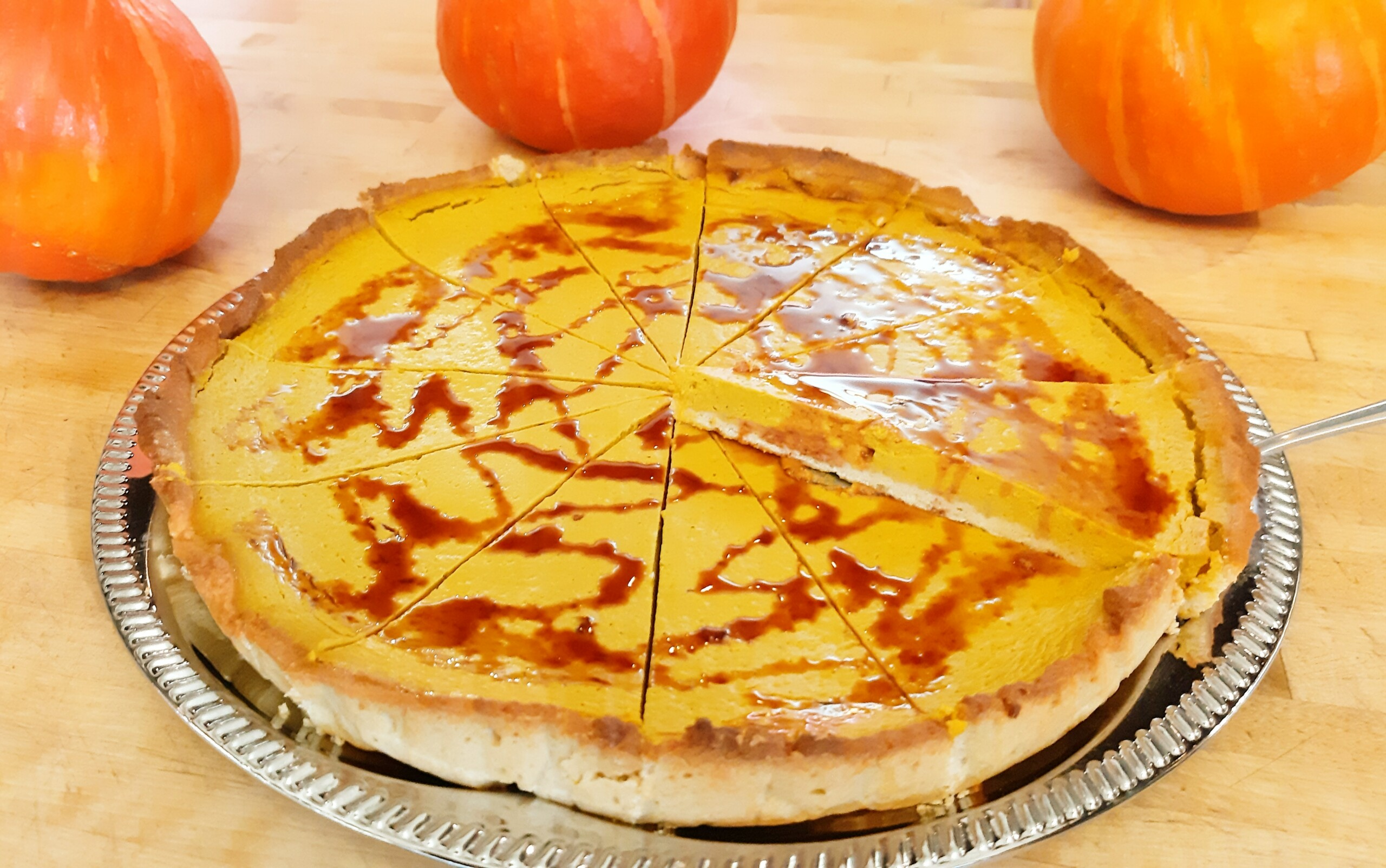 Kürbiskuchen Pumpkin pie - Backtheke Bioladen Biodelikat Bad Tölz